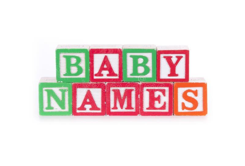 Имена младенца стоковое фото