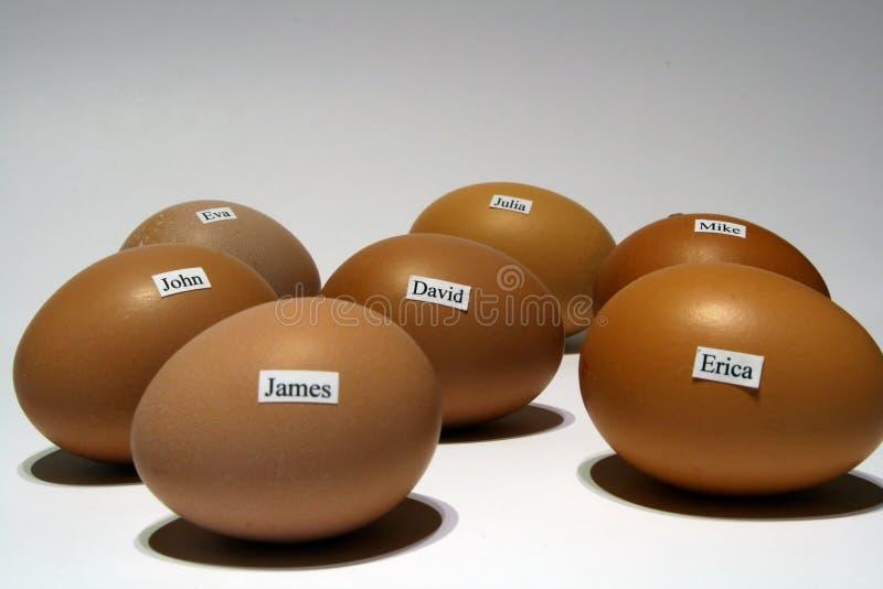 имена яичек стоковые изображения