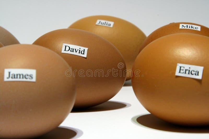 имена яичек стоковые фотографии rf