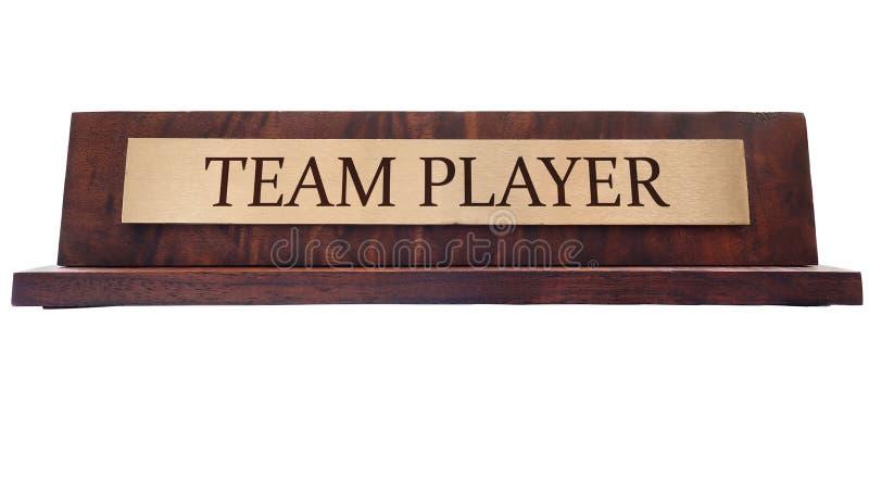 Именная табличка командного игрока стоковое изображение