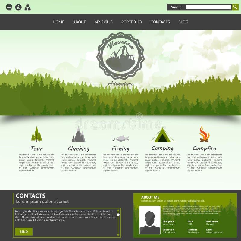 имеющаяся конструкция eps8 форматирует вебсайт шаблона JPEG иллюстрация штока