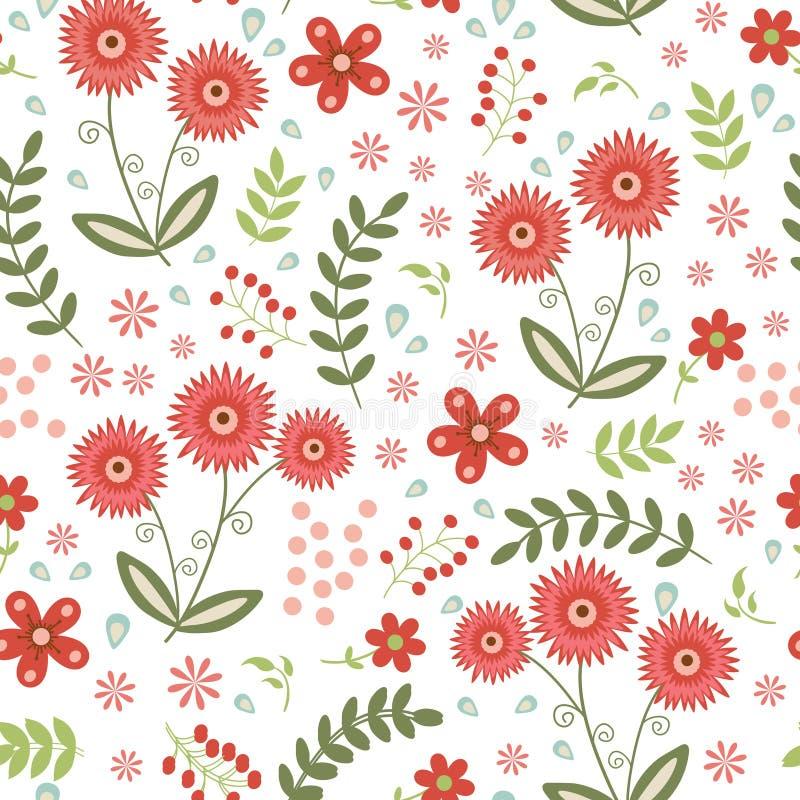имеющаяся красивейшая картина формы eps флористическая безшовная иллюстрация штока