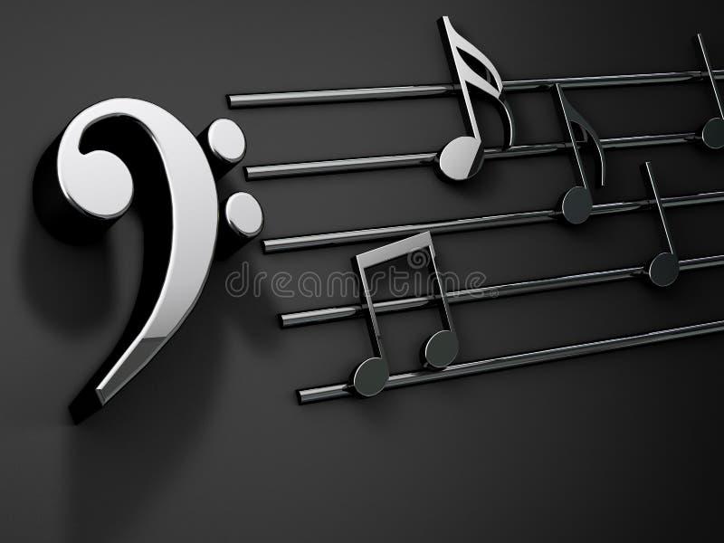 имеющаяся предпосылка оба конструирует нот JPEG форм eps8 Музыкальное сочинительство над чернотой иллюстрация штока