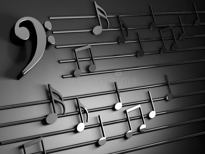 имеющаяся предпосылка оба конструирует нот JPEG форм eps8 Музыкальное сочинительство над чернотой бесплатная иллюстрация