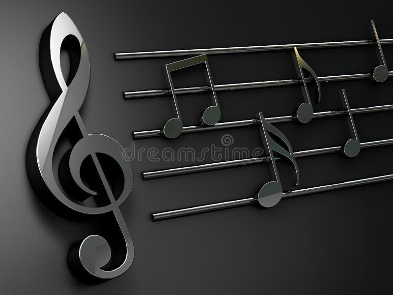 имеющаяся предпосылка оба конструирует нот JPEG форм eps8 Музыкальное сочинительство над чернотой иллюстрация вектора
