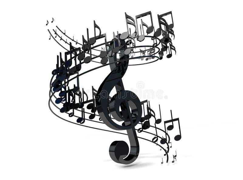 имеющаяся предпосылка оба конструирует нот JPEG форм eps8 Музыкальное сочинительство изолированное над белизной иллюстрация вектора