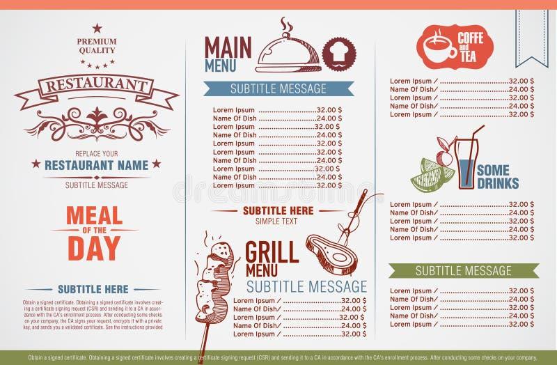 имеющийся вектор ресторана меню конструкции бесплатная иллюстрация
