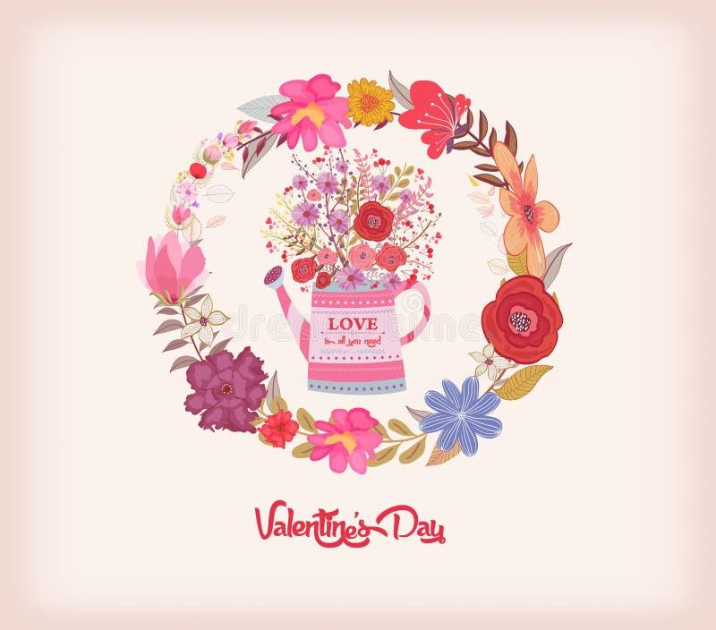 Download имеющийся вектор Valentines архива дня карточки Моча чонсервная банка с букетом акварели цветет Иллюстрация штока - иллюстрации насчитывающей свежесть, цвет: 81807902