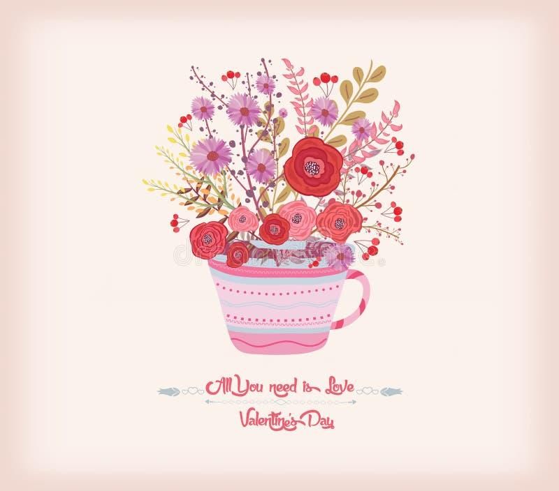 Download имеющийся вектор Valentines архива дня карточки Творческая иллюстрация с цветками акварели Иллюстрация штока - иллюстрации насчитывающей карточка, цветасто: 81807824