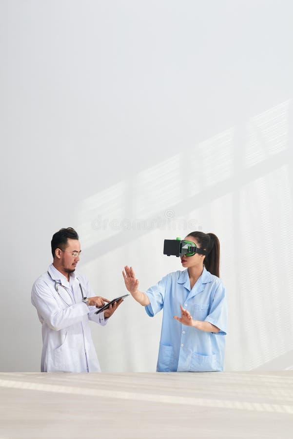 Имитатор испытания VR стоковое фото