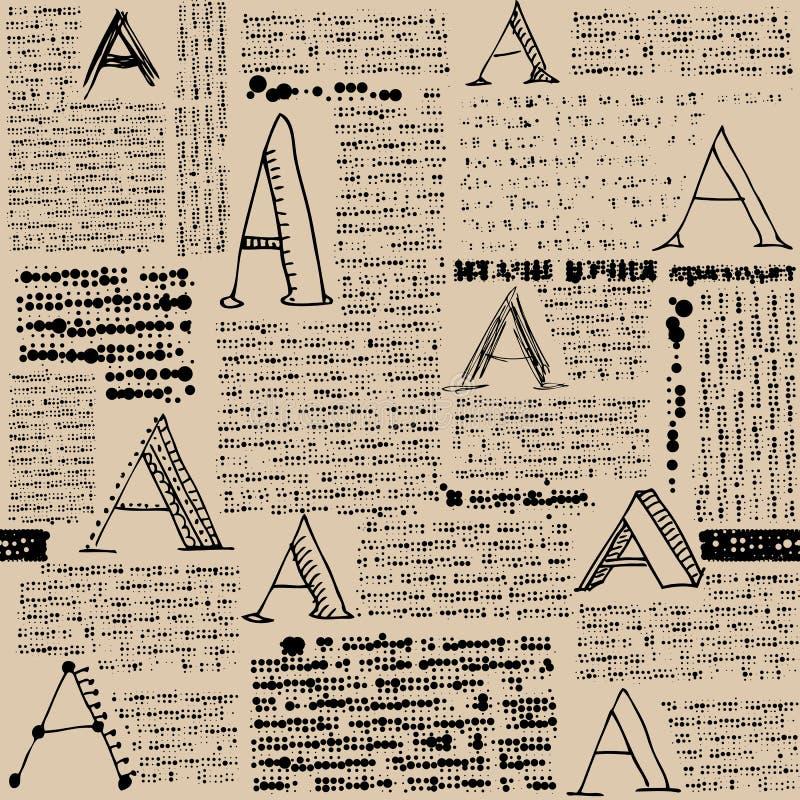 Имитация газеты с письмами a бесплатная иллюстрация