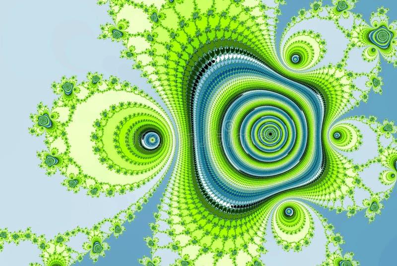 Имитация изображения фрактали цифров абстрактная подняла в свежие цвета иллюстрация штока