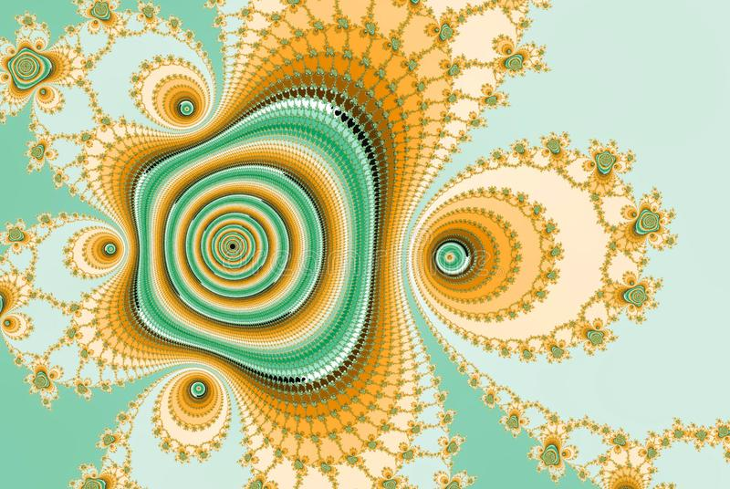 Имитация изображения фрактали цифров абстрактная подняла бесплатная иллюстрация