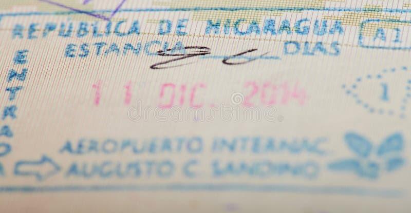 Иммиграционная виза Никарагуа стоковое фото rf