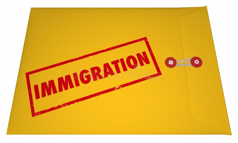 Иммиграция хранит слово применения документов проштемпелеванное конвертом бесплатная иллюстрация