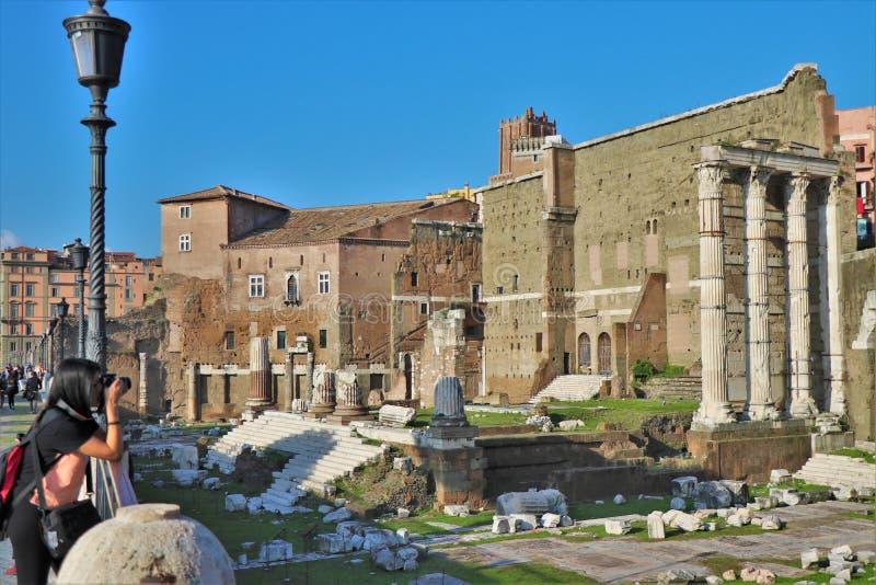 Имперские форумы, Рим, Италия стоковые фото