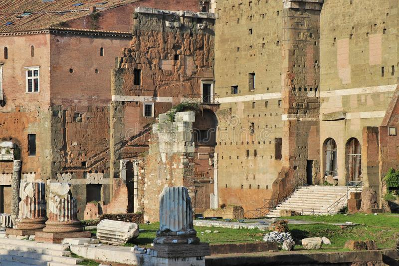 Имперские форумы, Рим, Италия стоковые фотографии rf