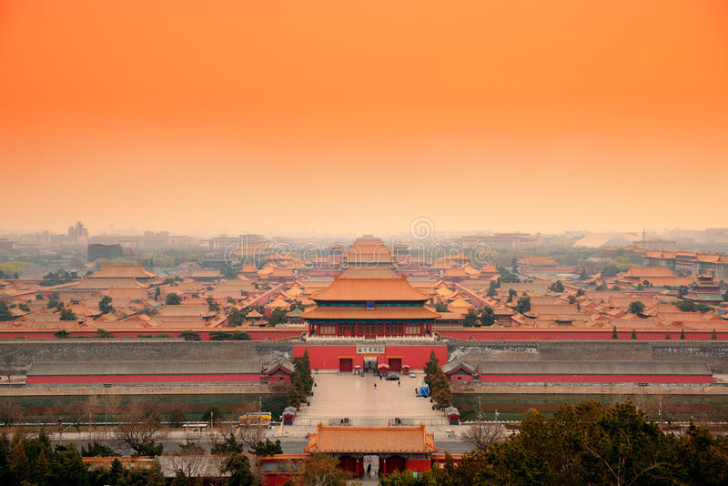 Имперский дворец Пекин стоковое изображение rf