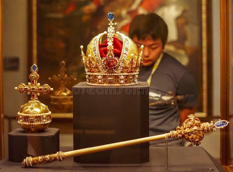 Имперский музей сокровища на вене стоковые фотографии rf