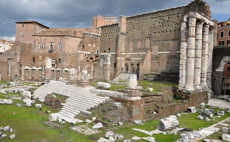 Имперский форум императора Augustus Италия rome стоковое изображение rf