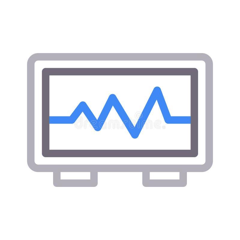 ИМПы ульс красят линию значок вектора иллюстрация вектора