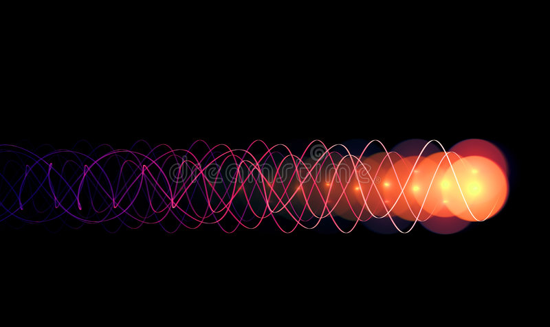 ИМП ульс энергии иллюстрация вектора