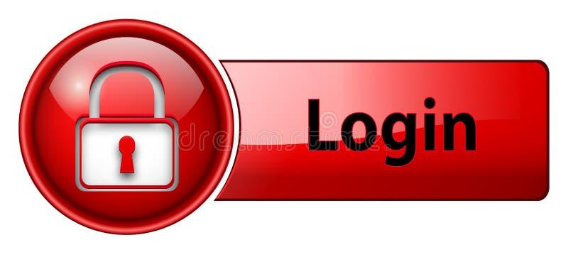 имя пользователя иконы кнопки иллюстрация вектора
