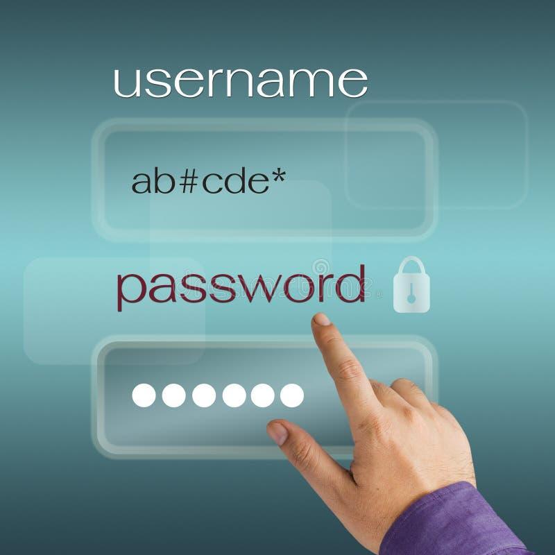 Имя пользователя и пароль стоковое изображение rf