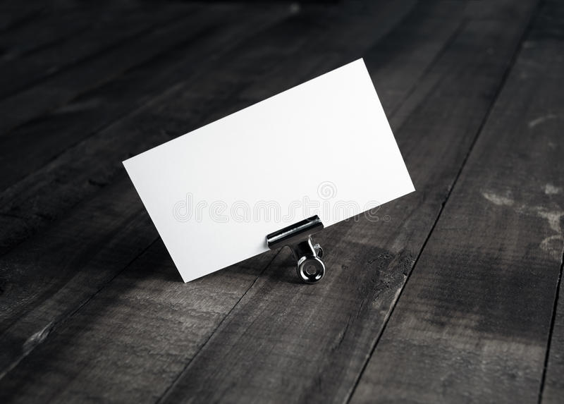 имя пустой карточки стоковая фотография rf