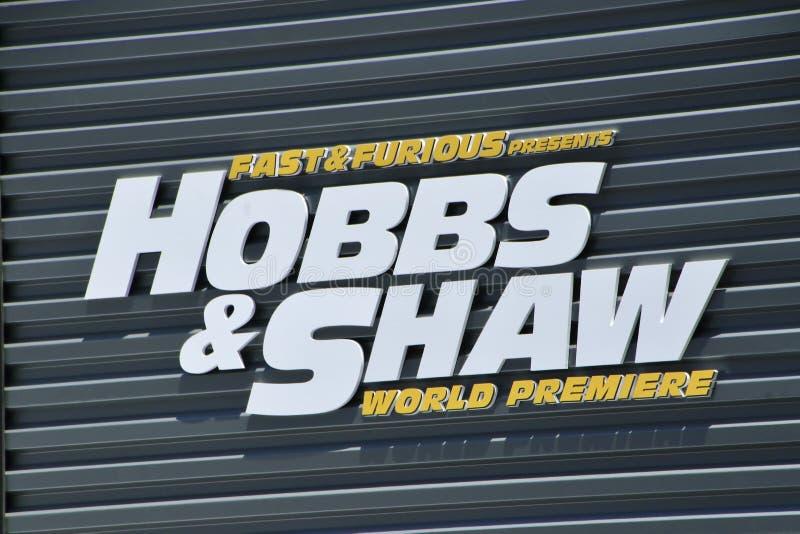 Имя фильма Hobbs и Shaw стоковые фотографии rf
