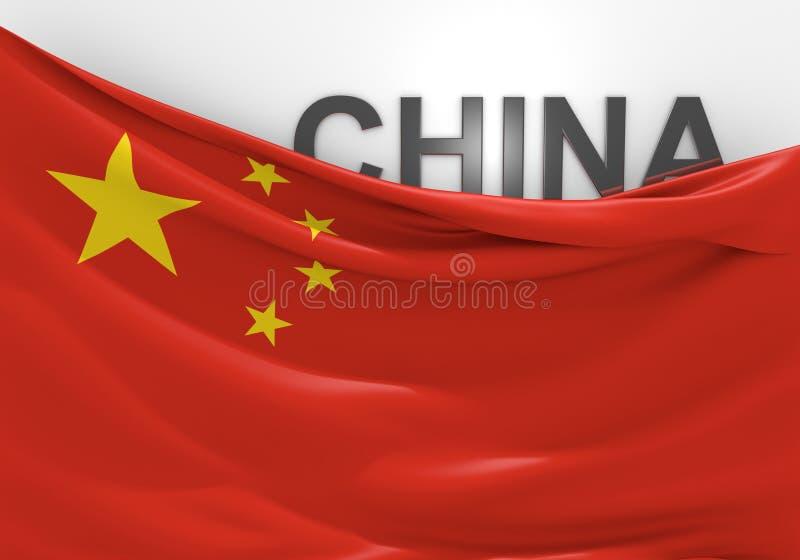 Имя флага и страны Китая бесплатная иллюстрация