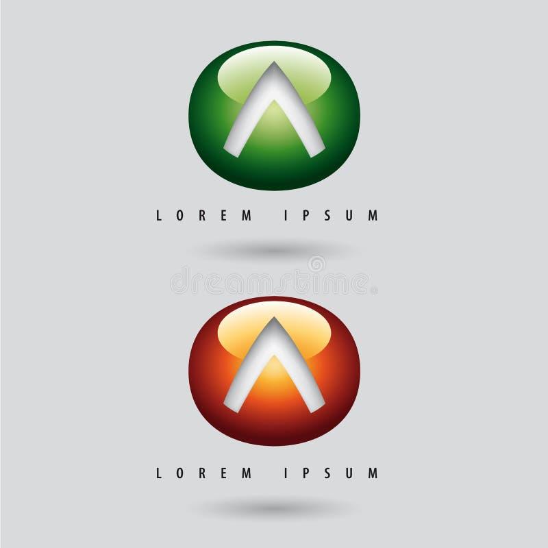 динамически логосы иллюстрация вектора