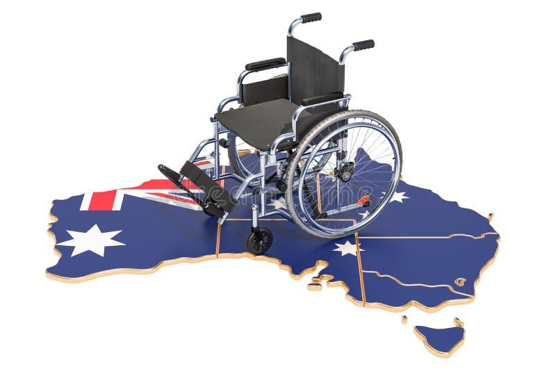 Инвалидность в концепции Австралии, перевод 3D бесплатная иллюстрация