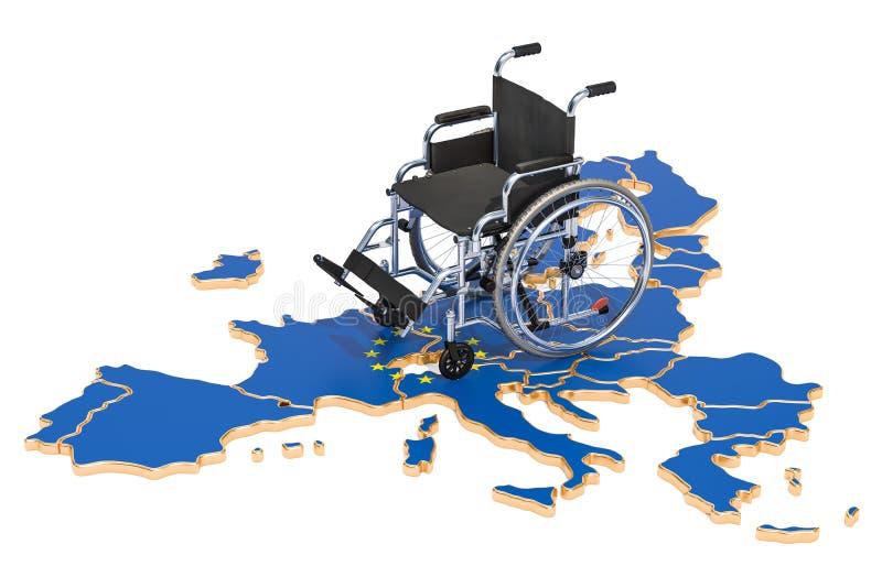 Инвалидность в концепции Европейского союза, перевод 3D бесплатная иллюстрация