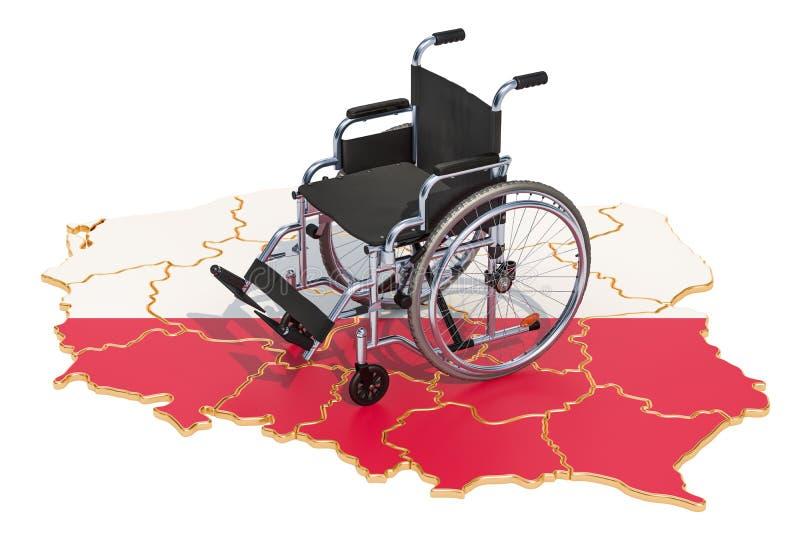Инвалидность в концепции Польши, переводе 3D бесплатная иллюстрация
