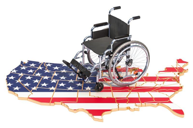 Инвалидность в концепции Соединенных Штатов, перевод 3D бесплатная иллюстрация