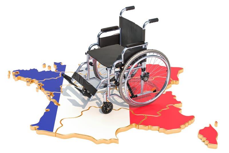 Инвалидность в концепции Франции, переводе 3D бесплатная иллюстрация