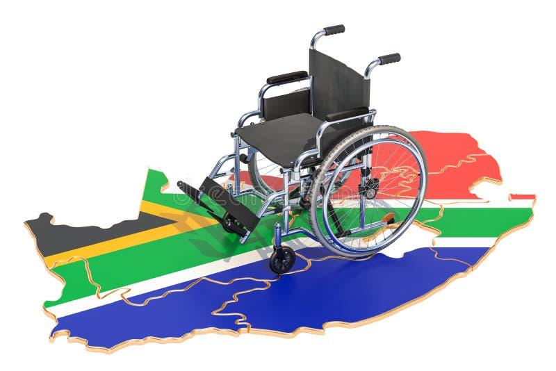 Инвалидность в концепции Южной Африки, перевод 3D иллюстрация штока