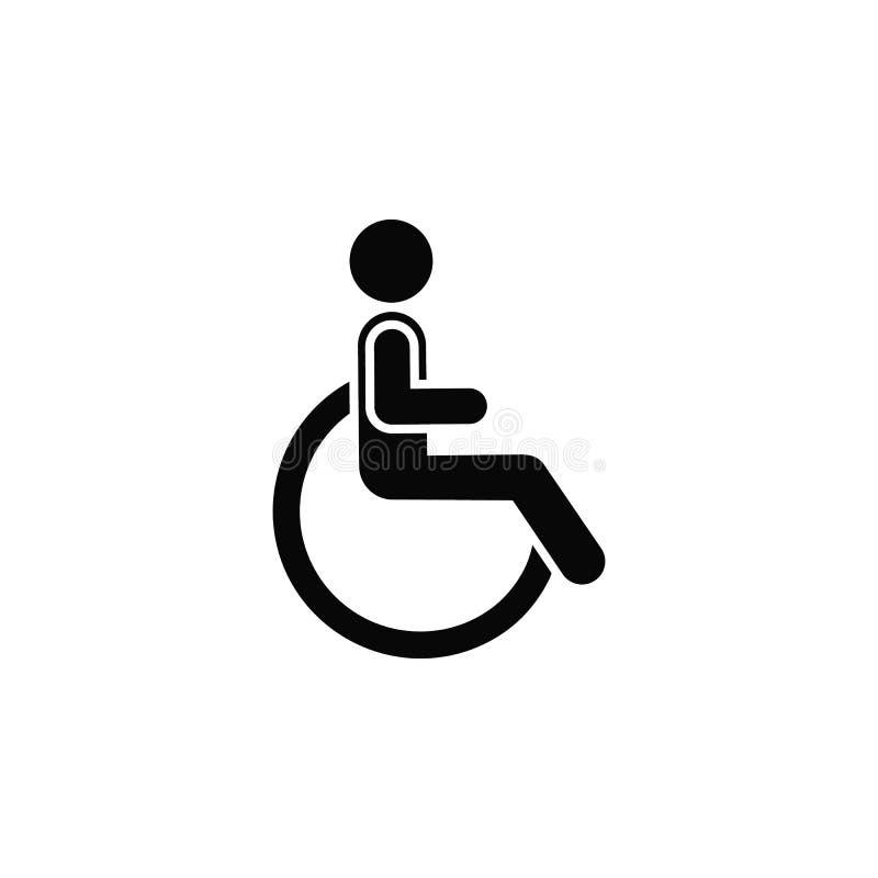 Инвалидность, значок Элемент простого значка для вебсайтов, веб-дизайна, мобильного приложения, infographics Толстая линия значок иллюстрация штока