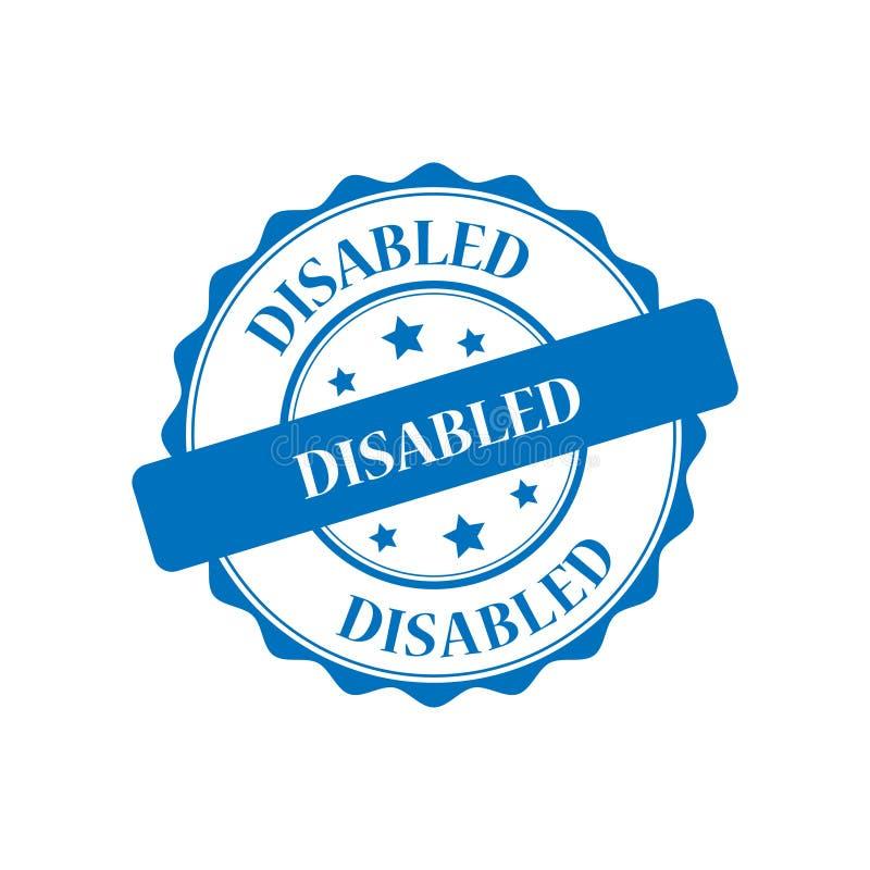 Инвалиды штемпелюют иллюстрацию бесплатная иллюстрация
