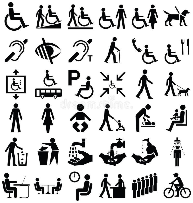 Инвалидность и графики людей бесплатная иллюстрация