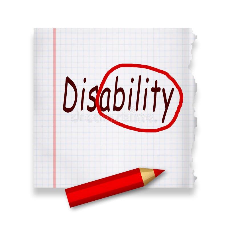 Инвалидность иллюстрация вектора