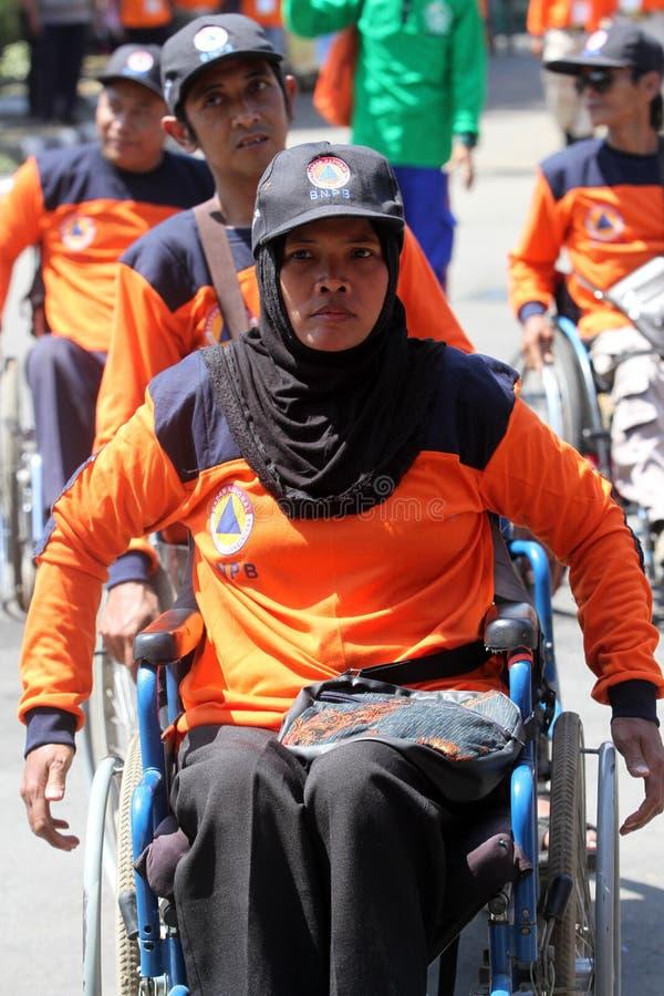 Инвалиды вызываются добровольцем стоковое фото