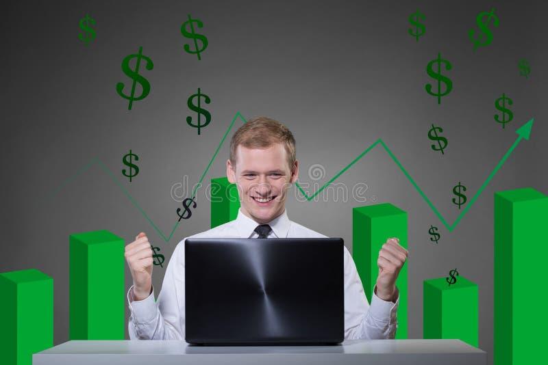 Инвестировать на фондовой бирже стоковые фото