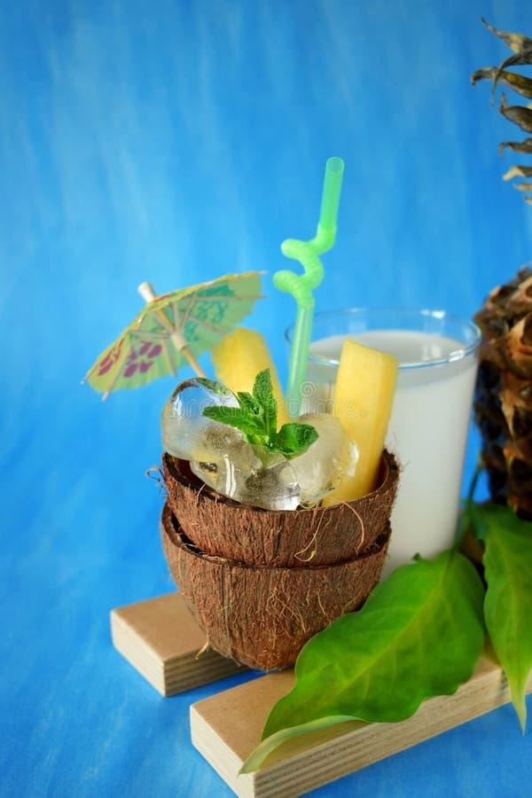 Ингридиенты для коктеиля colada pina стоковые фотографии rf