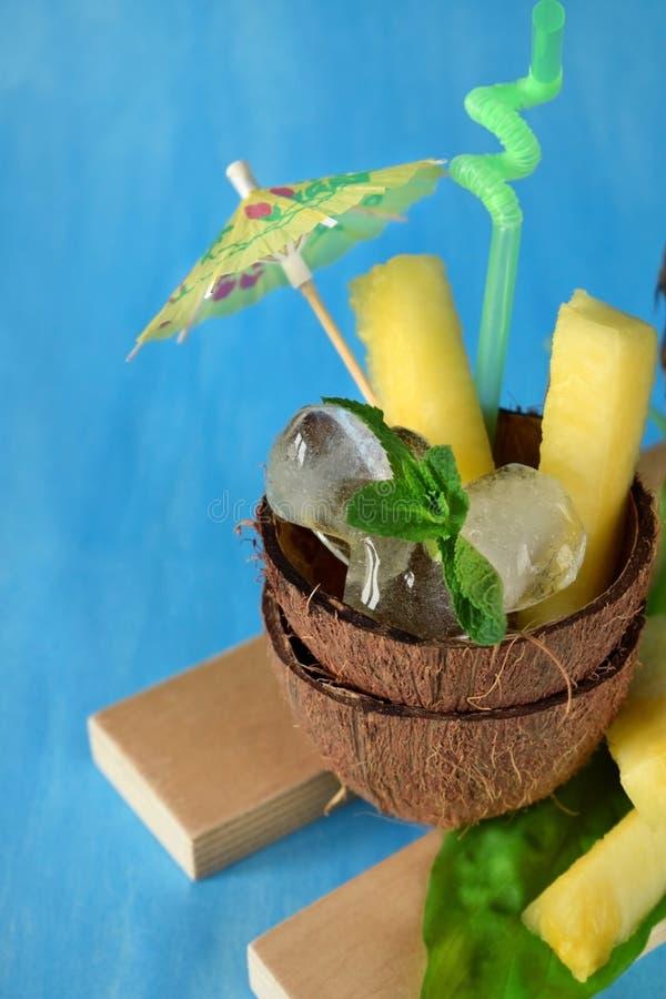 Ингридиенты для коктеиля colada pina стоковые изображения