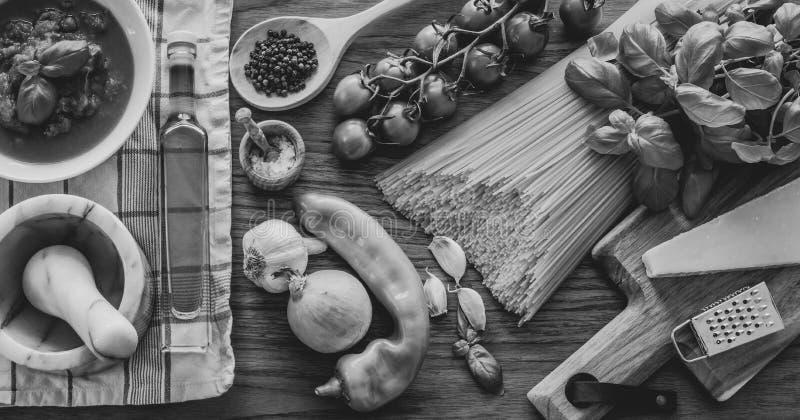 ингридиенты еды итальянские стоковые фото