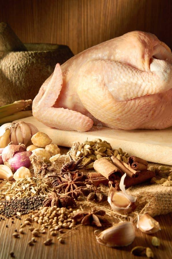 Ингридиент цыпленка карри стоковое изображение rf