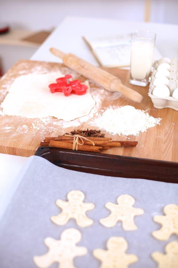 Ингридиенты выпечки для печенья shortcrust, плунжера стоковое изображение
