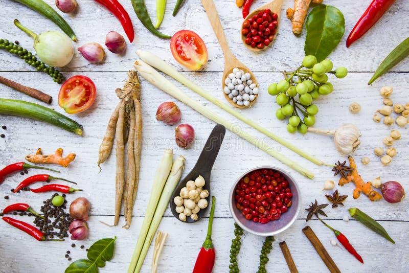 ингридиенты еды тайские стоковое фото rf